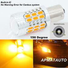 2x  BAU15S 7507 PY21W 1156PY LED Bulbs Turn Signal Lights  No Hyper Flash Amber