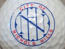 (1) Nichols Hills Logo Golf Ball
