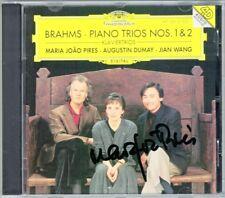Maria Joao Pires signed Brahms Klaviertrio 1 2 Augustin Dumay, visite Wang CD Trio