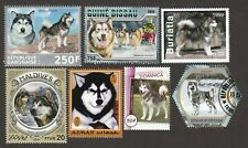 ALASKAN MALAMUTE  ** Int'l Postage Stamp Art Collection ** Great Gift Idea **