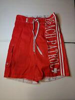 NEW Beach Patrol Red Polyester Swim Trunks Men S NWT Closet211*