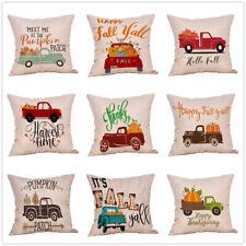 Halloween Pillow Cases Fall Sofa Pumpkin Harvest Throw Cushion Cover Home USA