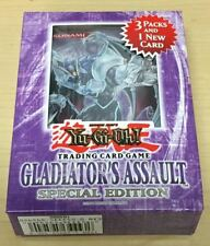Yugioh Gladiator's Assualt English Special Edition Box With 3 Booster Packs QTY