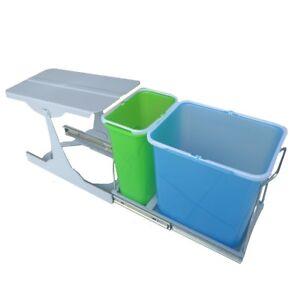 Pattumiera sottolavello cucina differenziata 24 litri 2 cesti estraibili PATT2