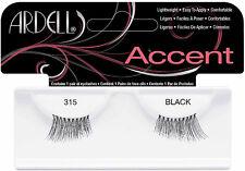 2 Pairs Ardell Natural Accent 315 Fashion Lash Fake Eyelashes Black