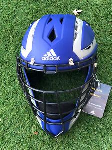 New Adidas Pro Series Catcher's Helmet 2.0 Blue Size 7 - 7 3/4 L-XL