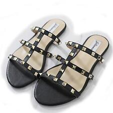 Summer Flat Shoes Slippers Large Size Sandals Rivets Fashion Slippers Shoes