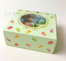 Pastel Green Bakery Boxes | for Cookies/Macarons/Chocolates Gift Party | 12 cts