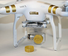 2-Pk 3D Printed Lens Cover Cap DJI Phantom 3 Professional / Advanced Camera GOLD