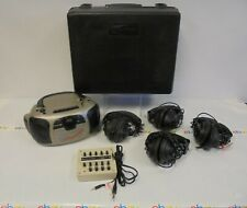 Califone Multimedia Player/Recorder 1776 w/10-Position Jackbox and 4 Headphones