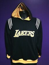 Adidas LA Los Angeles Lakers NBA Basketball Pull over Sweater Hoodie Black Gold