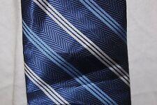 953a8c95363d Van Heusen blue white stripes men's neck tie 100% polyester skinny classic  lengt