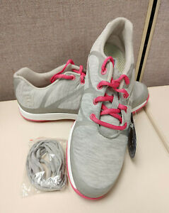 Footjoy Leisure Golf Shoes (Pink, Grey) Womens Size 8.5