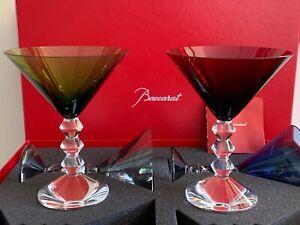 Baccarat Vega Set of 4 Martini Glasses in Original Box