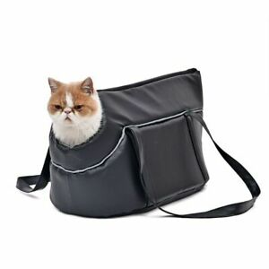 Cat Carrier Bag Slings Paw Stripe Windproof One Hole Easy Carry Outdoor Travel