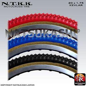 "Panaracer NTKK ""SNAKEBELLY"" TYRE 20"" fat/thin - Old School BMX - Red Black Blue"