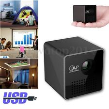 1080P HD P1 LED DLP Mini Projector Pocket Home Theater Multimedia USB/TF Stable