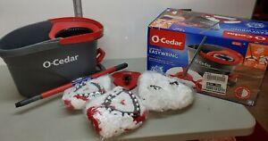 💦 O-Cedar EasyWring Microfiber Spin Mop & Bucket Floor Cleaning System 2 Extras