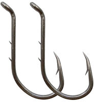 50pcs Baitholder Hook Jig Big Fishing Hooks Black HIgh Carbon Steel Fishook
