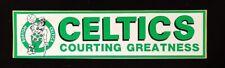 Vintage Boston Celtics Bumper Sticker
