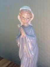 """BEAUTIFUL LLADRO/NAO PORCELAIN FIGURE OF PRAYING GIRL"" MARY 27cm"