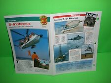 SIKORSKY S-61 RESCUE AIRCRAFT FACTS CARD AIRPLANE BOOK 185
