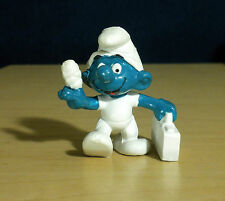 Smurfs Medic First Aid Smurf Doctor Vintage Figure PVC Toy Figurine Peyo 20054