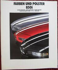 BMW 850i 1990 Large Multi-Lang Colours & Upholstery brochure - 8 Series V12
