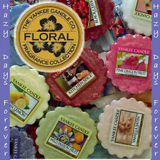 10 SCENTED YANKEE CANDLE WAX TARTS Floral Mix TARTLETS Flowers