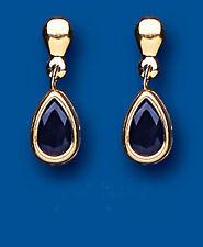 Unique Wishlist 9ct Yellow Gold Sapphire Pear Drops AP6834