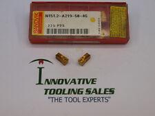 N151.2-A219-50-4G Carbide Cutoff Insert Grade 225 Sandvik Brand 10pcs