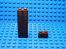 LEGO LEGOS  -  Set of 6 NEW  Fort  Log Bricks 1 x 2 BROWN
