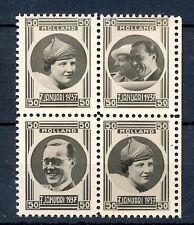 NEDERLAND 1937   4  x FOTO ZEGEL -JULIANA en BERNARD (*)  PRACHT  @1