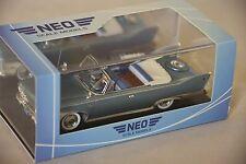 NEO 44693 - Plymouth Fury cabriolet bleu métallisé / blanc - 1960 1/43