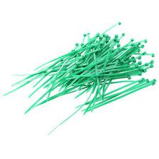 100 Pz Verde Cavi In Plastica Fascetta Fissare Wrap 3X100Mm I5T9