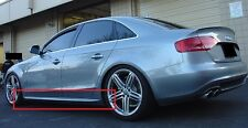AUDI A4 B8 RS4 S4 S-LINE LOOK SIDE SKIRTS / SIDE BAR NEW 2PCS (PAIR)