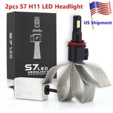 US 2pcs Car LED Light Lamp S7 H8 H9 H11 Headlight Auto Led Lighting System 6000K