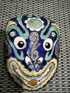 Vintage Dragon Ceramic Wall Mask