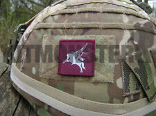 British Army VCRO backed Pegasus Airborne Helmet Patch Maroon Blue 16AA 4x4cm SM