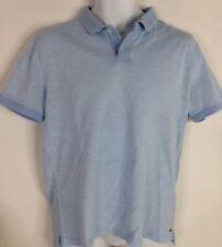 Hugo Boss Polo Shirt Short Sleeve Blue Golf Mens Mercerised Cotton L