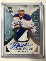 2015-16 Upper Deck The Cup David Musil Oilers RPA Rookie Patch Auto /249