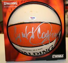 Cynthia Cooper Signed WNBA I/O Basketball PSA/DNA Comets D03450