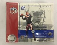 2001 Upper Deck SP Game Used Football Factory Sealed Hobby Box