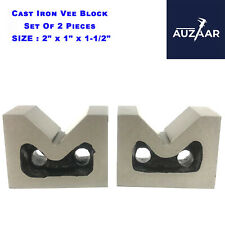 Cast Iron Vee Block Set Of 2 Pieces 2 X 1 X 1 12 Inch V Block Without Clamp