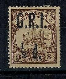 Samoa British Occupation WWI 1/2d on 3PF brown '1' to the left MOG S.G. 101d