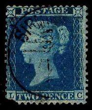 1855 GREAT BRITAIN #17 QV WMK 20 P14 - USED - FINE - CV$60.00 AS VF (ESP#2607)