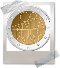 2 EURO *** Lettonie 2021 Letland *** 100 jaar/ans De Jure !!!