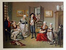 Costumes et Intérieur - France 1794 - CHROMOLITHOGRAPHIE ORIGINALE 19e Racinet