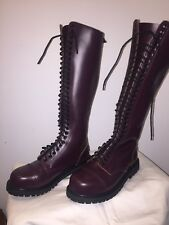 30-Hole Ranger Boots Combat Knightsbridge Gothic. Burgundy red. Size 9 D.
