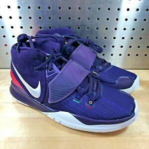 Nike Kyrie 6 (GS) Basketball Shoes Purple Multi-Color White BQ5599-500 Sz 7y
